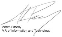 Adam Passey V.P. of Information and Technology